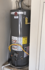 newly installed kenmore water heater